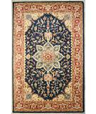 RugStudio presents ORG Peshawar Ravara Navy - Rust Hand-Tufted, Best Quality Area Rug