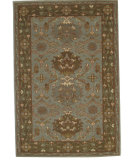 RugStudio presents Org Pathankoat Am 1602 Smoke/Light Brown Hand-Knotted, Better Quality Area Rug