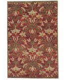 RugStudio presents Org Prayag Crown Red Hand-Knotted, Good Quality Area Rug