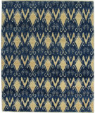 RugStudio presents ORG Angura 801 Dark Blue Hand-Knotted, Best Quality Area Rug