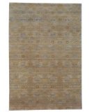 RugStudio presents Org Tibetan Weave Akn-623 9/45 Beige/Brown Hand-Knotted, Best Quality Area Rug