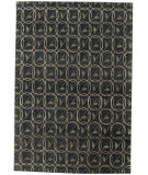 RugStudio presents Org Tibetan Weave Akn-622 9/45 Black Hand-Knotted, Best Quality Area Rug