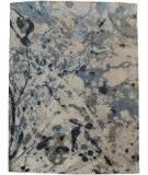 RugStudio presents Org Expressions Ce2086b Beige-Blue Hand-Knotted, Good Quality Area Rug