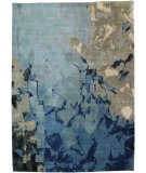 RugStudio presents Org Expressions Ce2094b Blue/Multi Hand-Knotted, Good Quality Area Rug