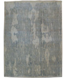 RugStudio presents Org Faux Bois Ce2252b Ivory/Light blue Hand-Knotted, Good Quality Area Rug