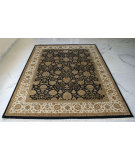 RugStudio presents Org Enchante:14/14 Ce3008a Black/Ivory Hand-Knotted, Good Quality Area Rug