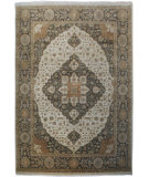 RugStudio presents Org Elegance Ce7043 Beige/Charcoal Hand-Knotted, Good Quality Area Rug
