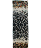 RugStudio presents Org Expressions Cea7015 Black/Multi Hand-Knotted, Good Quality Area Rug
