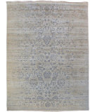 RugStudio presents Org Urbane Cea7071 Ivory/Light Blue Hand-Knotted, Good Quality Area Rug