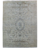 RugStudio presents Org Urbane Cea7086 Ivory/Grey Hand-Knotted, Good Quality Area Rug