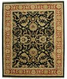 RugStudio presents ORG Indo-Peshawar D-205 Black-Rust Hand-Knotted, Best Quality Area Rug
