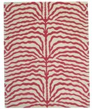 RugStudio presents ORG Destin Zebra Fiery Pink Hand-Tufted, Good Quality Area Rug