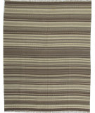 RugStudio presents ORG Dhurrie Flatweave D-027 Medium Brown Flat-Woven Area Rug