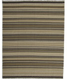 RugStudio presents ORG Dhurrie Flatweave D-028 Dark Brown Flat-Woven Area Rug