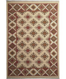 RugStudio presents ORG Dhurrie Flatweave D-029 Beige/Brown Flat-Woven Area Rug