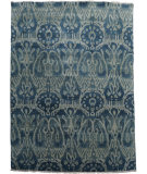 RugStudio presents Org Hawamahal Gc853 Blue Multi Hand-Knotted, Good Quality Area Rug
