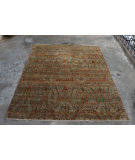RugStudio presents Org Hawamahal Gc852 Charcoal Rust Hand-Knotted, Good Quality Area Rug