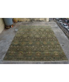 RugStudio presents Org Hawamahal Gc850 Green Multi Hand-Knotted, Good Quality Area Rug