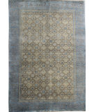 RugStudio presents Org Grand D-72 Gold/Blue Hand-Knotted, Good Quality Area Rug