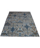 RugStudio presents Org Ikat I-004-A Multy Ivory Hand-Knotted, Good Quality Area Rug