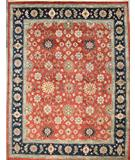 RugStudio presents ORG Varuna Mahal Rust-Blue Hand-Knotted, Best Quality Area Rug
