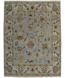 RugStudio presents Org Santo P45 Light Blue-Beige Hand-Knotted, Better Quality Area Rug