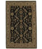 RugStudio presents ORG Santo P55 Black-Beige Hand-Knotted, Good Quality Area Rug
