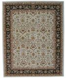 RugStudio presents ORG Peshawar Tufted D-411 Ivory-Black Hand-Tufted, Best Quality Area Rug