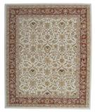 RugStudio presents ORG Peshawar Tufted D-411 Ivory-Rust Hand-Tufted, Best Quality Area Rug