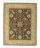 RugStudio presents ORG Peshawar Tufted HT-630 Coffee-Light Gold Hand-Tufted, Best Quality Area Rug