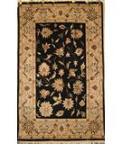 RugStudio presents Org Santo P45 Black-Beige Hand-Knotted, Best Quality Area Rug