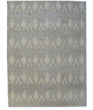 RugStudio presents ORG Angura 801 Gray/Beige Hand-Knotted, Good Quality Area Rug