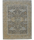 RugStudio presents ORG Angura 852 Gray/ Dark Beige Hand-Knotted, Good Quality Area Rug