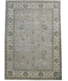RugStudio presents ORG Angura 853 Gray/Beige Hand-Knotted, Good Quality Area Rug
