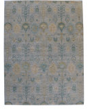RugStudio presents ORG Angura 857 Gray/Multi Hand-Knotted, Good Quality Area Rug