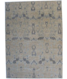 RugStudio presents ORG Angura 867 Beige Hand-Knotted, Good Quality Area Rug