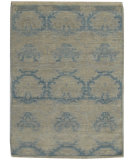 RugStudio presents Org Angura 850 Light blue/Multi Hand-Knotted, Good Quality Area Rug