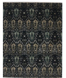 RugStudio presents Org Dexter Spl Ikat-120 Black-Multi Hand-Knotted, Good Quality Area Rug