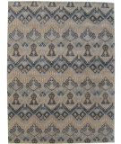 RugStudio presents ORG Dexter Ikat-123 Multi Hand-Knotted, Good Quality Area Rug