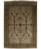 RugStudio presents Org Crystal Jb(s)-205 Ivory/Gold Hand-Knotted, Good Quality Area Rug