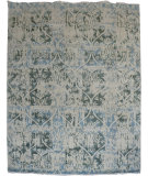 RugStudio presents Org Dazzle Dq(hs)-47 White Ivory Hand-Knotted, Good Quality Area Rug