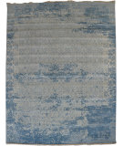 RugStudio presents Org Ottoman Ch-11 Water Blue Hand-Knotted, Good Quality Area Rug