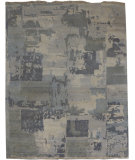 RugStudio presents Org Venna Dr-2 Light Gray Hand-Knotted, Good Quality Area Rug