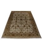 RugStudio presents ORG Crystal Jb S-205 Ivory Hand-Knotted, Good Quality Area Rug
