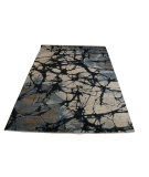 RugStudio presents ORG Vienna Dq-13 Ebony Hand-Knotted, Good Quality Area Rug
