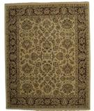 RugStudio presents ORG Ovations St-9 Biege-Red Hand-Knotted, Better Quality Area Rug