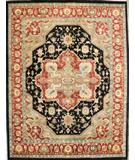 RugStudio presents ORG Varuna Serapi Black Rust Hand-Knotted, Good Quality Area Rug