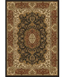 RugStudio presents Orian American Heirloom 1220 Black Machine Woven, Good Quality Area Rug