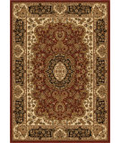 RugStudio presents Orian American Heirloom 1221 Claret Machine Woven, Good Quality Area Rug