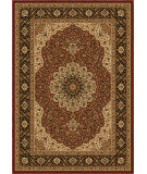 RugStudio presents Orian American Heirloom 1229 Claret Machine Woven, Good Quality Area Rug